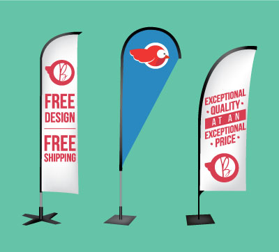 Billboard Flags and Stands